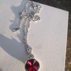 Alex & Ani July birth stone sterling necklace rare